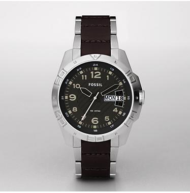 Fossil AM4319, Analog Black Dial