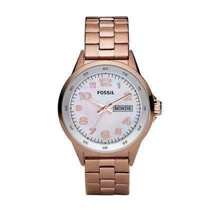 FOSSIL® Whats New Watches:Womens Maddox Three Hand Champagne Dial Watch AM4334 :  neutral accessory rose gold womens