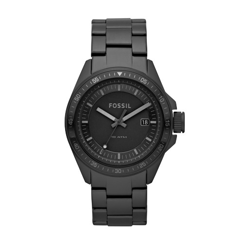 Fossil Decker Stainless Steel Watch - Black - AM4373
