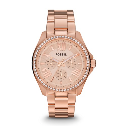 Cecile Multifunction Rose-Tone Stainless Steel Watch AM4483