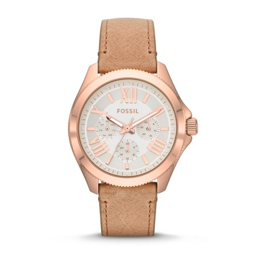fossil Cecile Multifunction Sand Leather Watch AM4532
