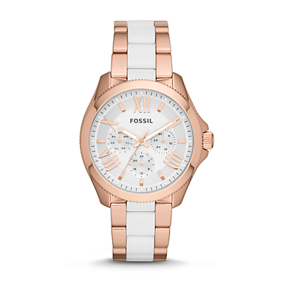 Fossil Watches For Women Two Tone Two-tone Timepiece Watch