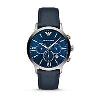 71ddc930b3d30 AR11226P · Compare · Quicklook · Emporio Armani · New - Emporio Armani Men's  Chronograph Blue Leather Watch. $275.00
