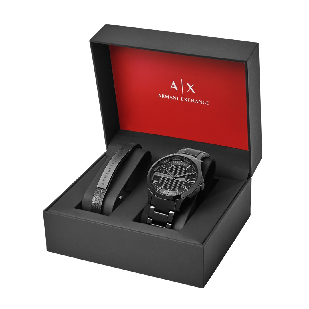 Armani Exchange A|X Men&Apos;S Watch + Bracelet Gift Set Ax7101 Jewelry - AX7101-WSI