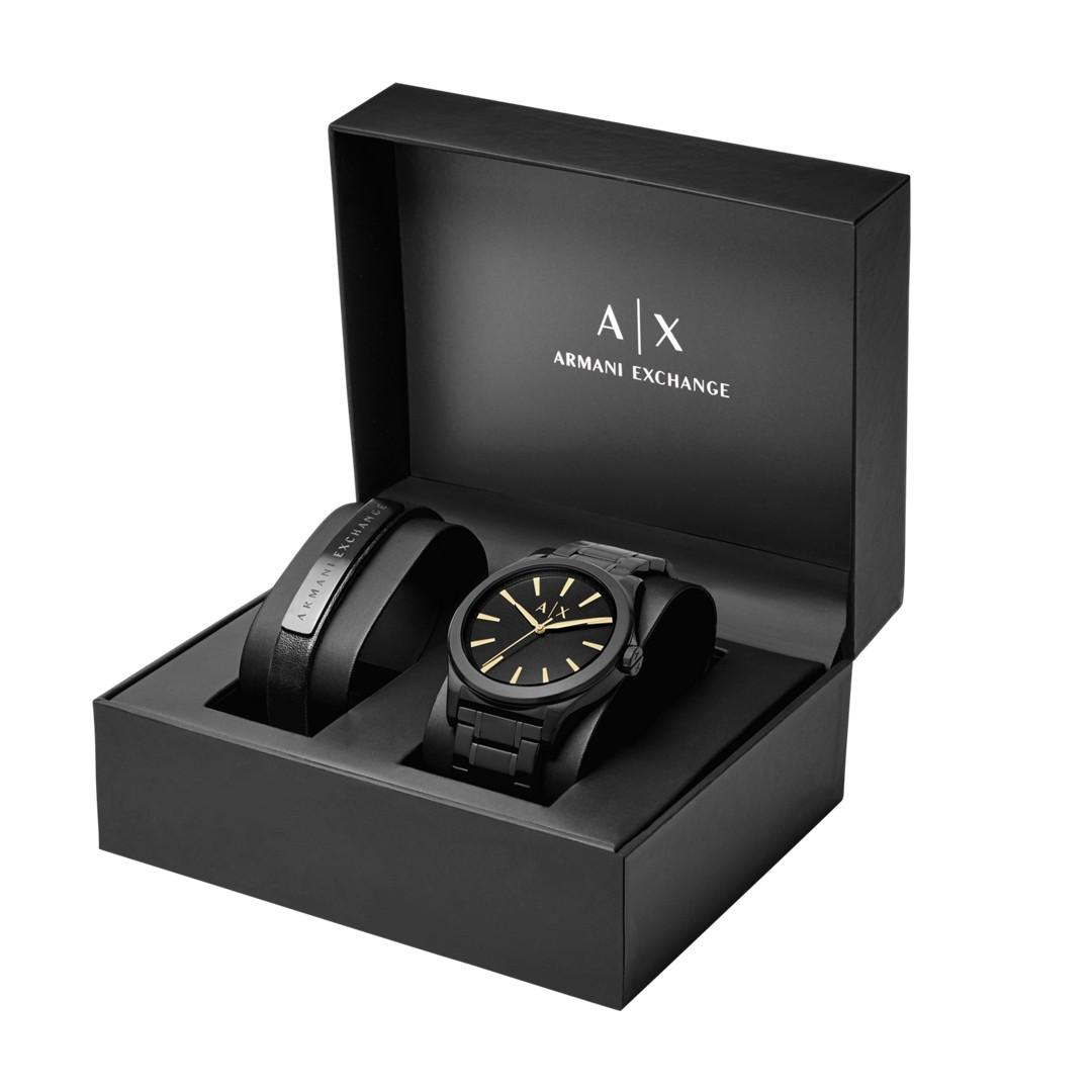 Armani Exchange A|X Men&Apos;S Watch + Bracelet Gift Box Set Ax7102 Jewelry - AX7102-WSI
