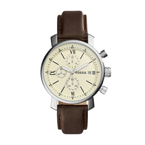 Fossil Rhett Chronograph Brown Leather Watch  Jewelry