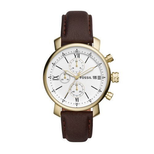Fossil Rhett Chronograph Brown Leather Watch BQ1009