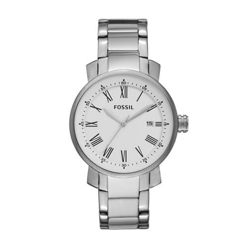 Fossil Rhett Three-Hand Stainless Steel Watch BQ1012