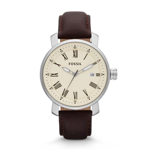 Fossil Rhett Three-Hand Brown Leather Watch BQ1016