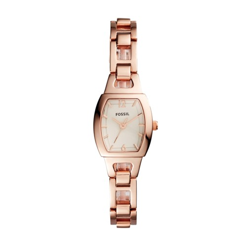 Fossil Isobel Three-Hand Rose Gold-Tone Stainless Steel Watch BQ1069