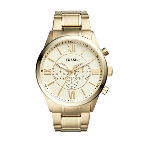 Fossil Flynn Chronograph Gold-Tone Stainless Steel Watch BQ1128IE