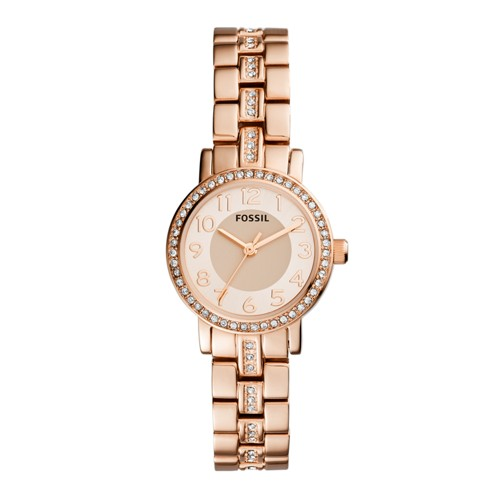 Fossil Shae Three-Hand Rose Gold-Tone Stainless Steel Watch BQ1430