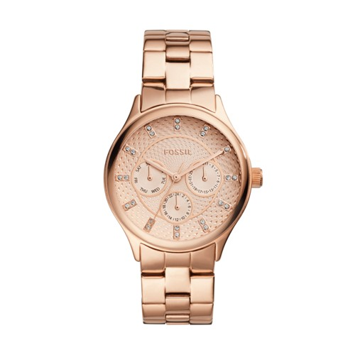 Modern Sophisticate Multifunction Rose Gold-Tone Stainless Steel Watch BQ1561