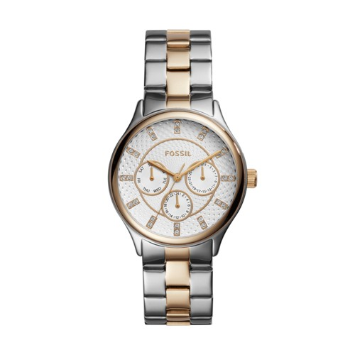 Modern Sophisticate Multifunction Two-Tone Stainless Steel Watch BQ1564