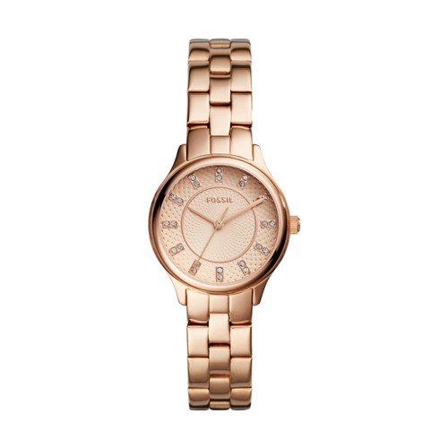 Fossil Modern Sophisticate Three-Hand Rose Gold-Tone Stainless Steel Watch BQ1571