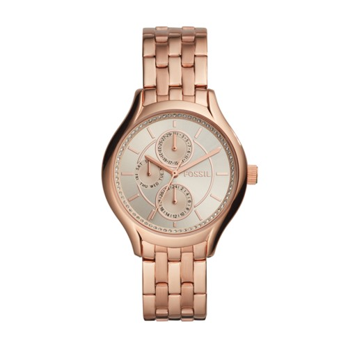 Fossil Daydreamer Three-Hand Rose Gold-Tone Stainless Steel Watch BQ1581IE