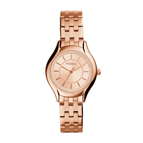 Fossil Daydreamer Three-Hand Rose Gold-Tone Stainless Steel Watch Bq1591ie
