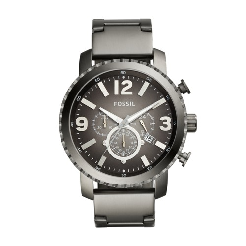 Fossil Gage Chronograph Smoke Stainless Steel Watch BQ1651