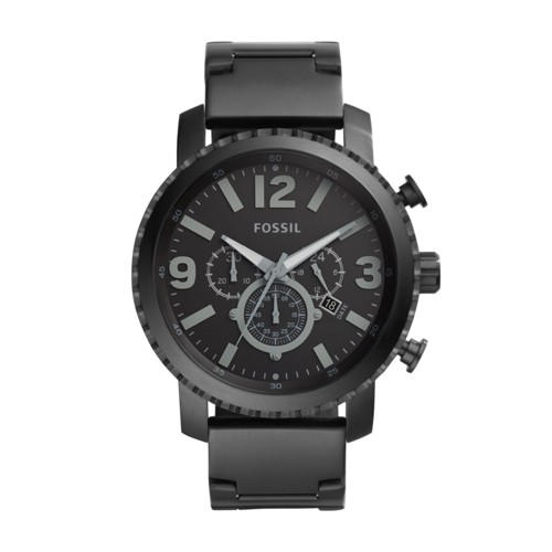 Fossil Gage Chronograph Black Stainless Steel Watch BQ1652