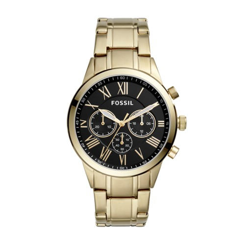 Fossil Flynn Midsize Chronograph Gold-Tone Stainless Steel Watch BQ1733IE