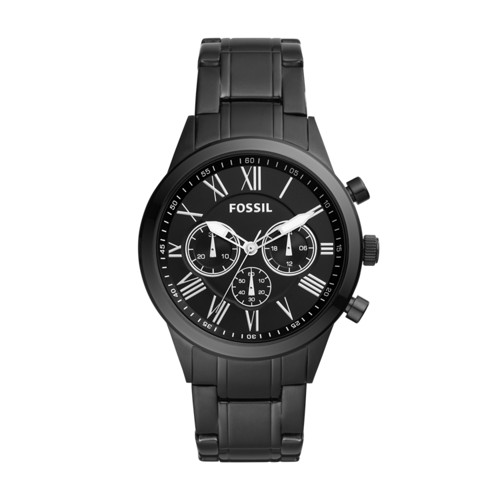 Fossil Flynn Midsize Chronograph Black Stainless Steel Watch BQ1743IE