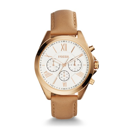Fossil Modern Courier Chronograph Tan Leather Watch BQ1751