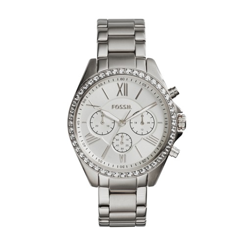 Fossil Modern Courier Chronograph Silver-Tone Stainless Steel Watch BQ1773