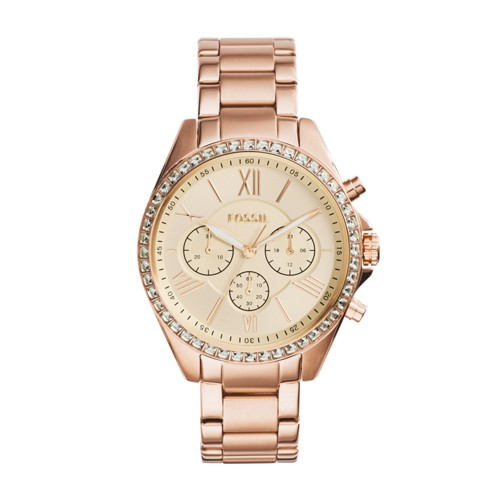 Fossil Modern Courier Chronograph Rose Gold-Tone Stainless Steel Watch Bq1774