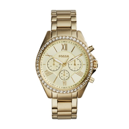 Fossil Modern Courier Chronograph Gold-Tone Stainless Steel Watch BQ1775
