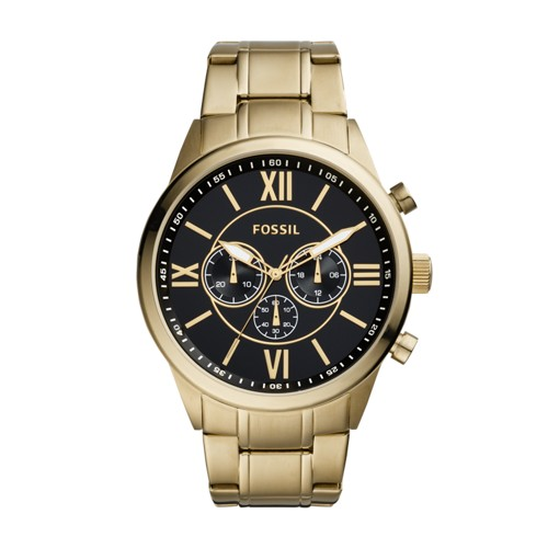 Fossil Flynn Chronograph Gold-Tone Stainless Steel Watch BQ1776IE