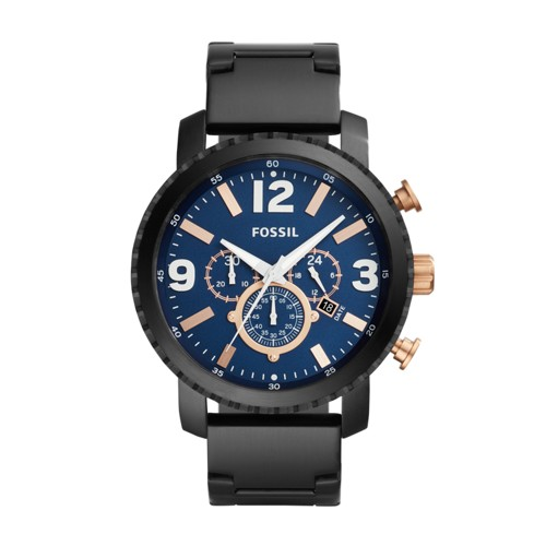 Fossil Gage Chronograph Black Stainless Steel Watch BQ2011