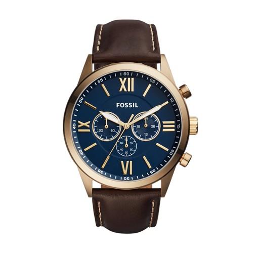 Fossil Flynn Chronograph Brown Leather Watch BQ2095