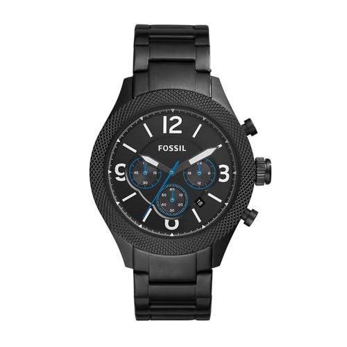 Fossil Aiden Chronograph Black Stainless Steel Watch Bq2108ie