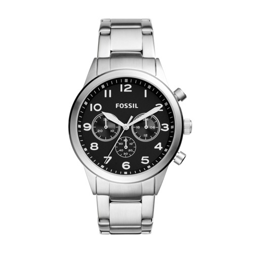 Fossil Flynn Pilot Chronograph Stainless Steel Watch BQ2119