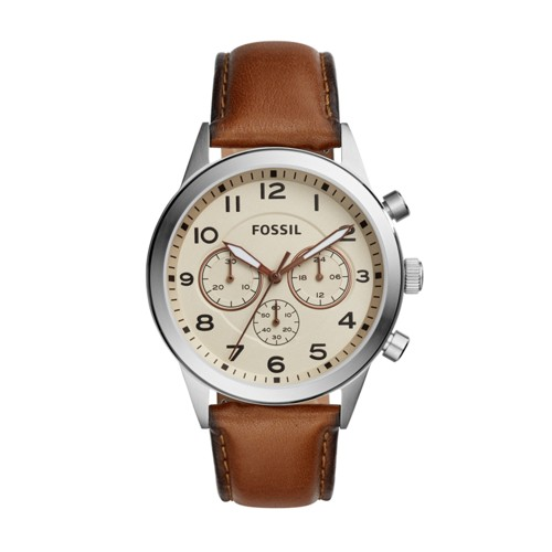 Fossil Flynn Pilot Chronograph Brown Leather Watch BQ2122