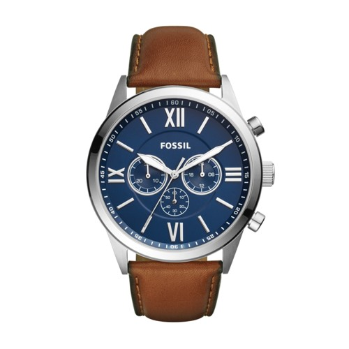 Fossil Flynn Chronograph Brown Leather Watch BQ2125