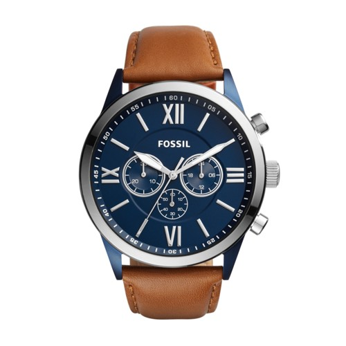 Fossil Flynn Chronograph Brown Leather Watch  Jewelry