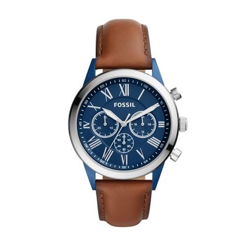 Fossil Flynn Midsize Chronograph Brown Leather Watch BQ2155