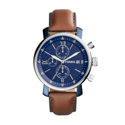 Rhett Chronograph Brown Leather Watch BQ2163