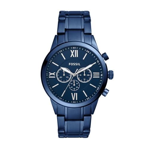 Fossil Flynn Chronograph Blue Stainless Steel Watch BQ2191