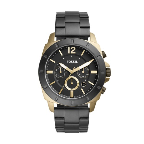Fossil Privateer Sport Chronograph Black Stainless Steel Watch BQ2196
