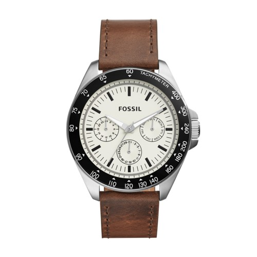Fossil Neale Multifunction Brown Leather Watch BQ2202