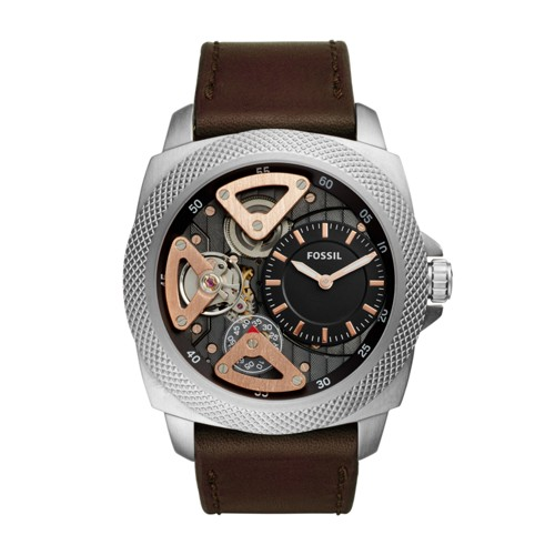 Fossil Privateer Sport Mechanical Brown Leather Watch BQ2206