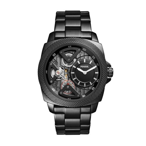 Fossil Privateer Sport Mechanical Black Stainless Steel Watch BQ2210