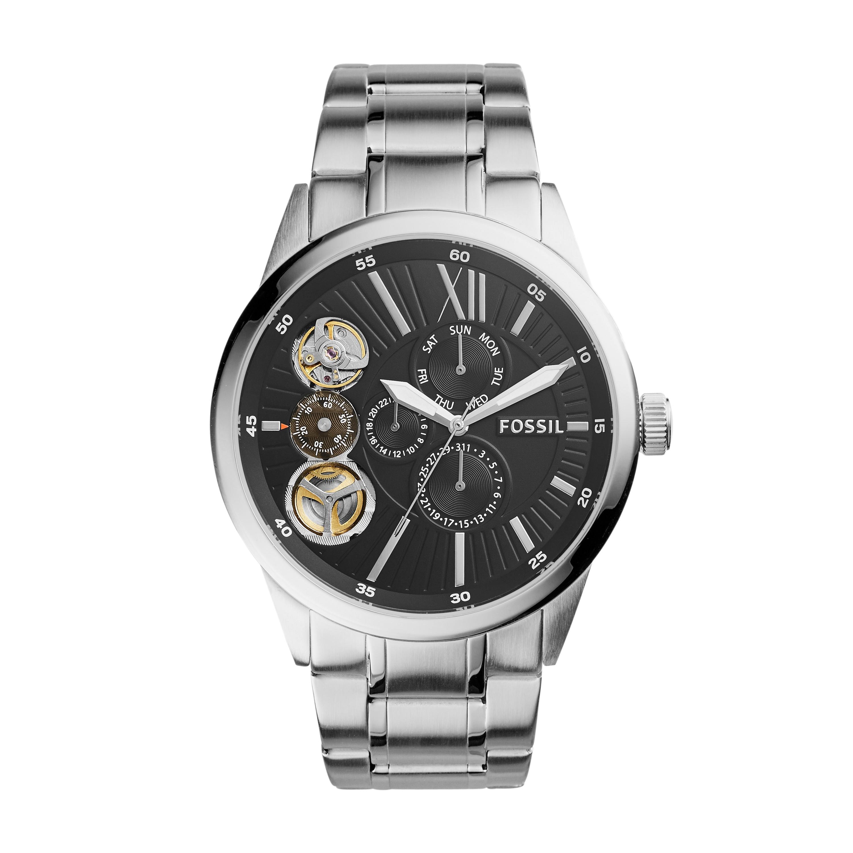 Fossil Flynn Mechanical Stainless Steel Watch Bq2217
