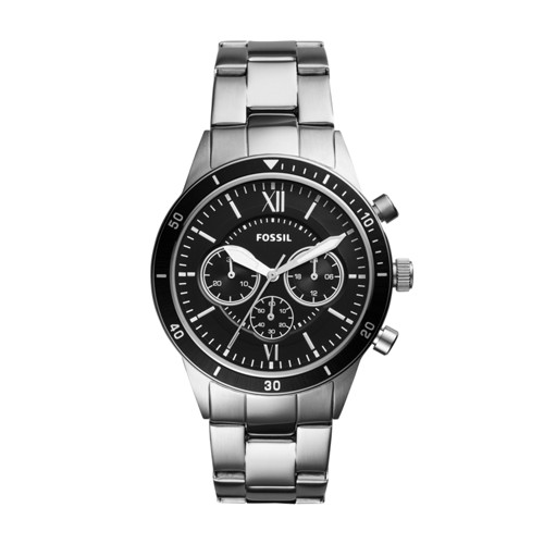 Fossil Flynn Sport Chronograph Silver Stainless Steel Watch BQ2226