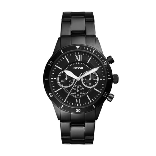 Fossil Flynn Sport Chronograph Black Stainless Steel Watch BQ2227