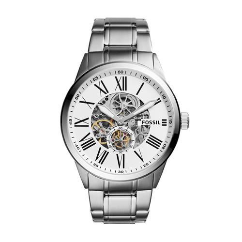 Fossil Flynn Pilot Mechanical Stainless Steel Watch Bq2241