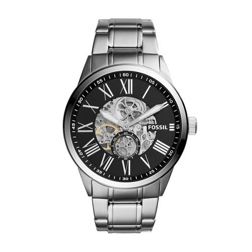 Fossil Flynn Pilot Mechanical Stainless Steel Watch BQ2242