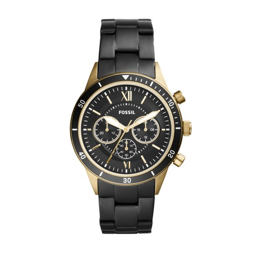 Fossil Flynn Sport Chronograph Black Stainless Steel Watch BQ2258
